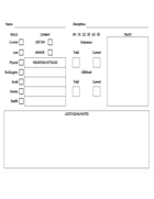 Character Sheet & Pregens For Death Stalkers of Antediluvia