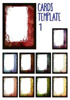Cards template, grunge and dark with transparent window