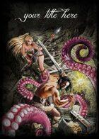 Adventurers lost in the swamp, Sword and Sorcery fighting scene