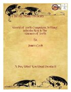 World Of Jorth Campaign Setting: Introduction to the Gnomes of Jorth