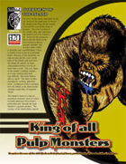 King of All Pulp Monsters (D20 Modern)