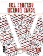 OGL Fantasy Weapon Cards