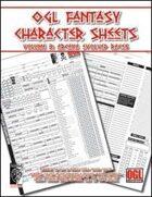 OGL Fantasy Character Sheets Volume 3: Arcana Evolved