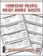 Campaign Props: Magic Wand Sheet