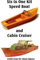 6 in 1 Speed Boat & Cabin Cruiser