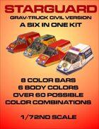 Starguard Grav-truck Civilian Version 6 in 1 Kit