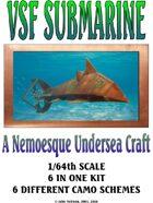 Fenian's Revenge Victorian Science Fiction Submarine 1/64th