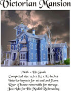 HO scale Victorian Mansion 1/86th