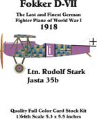 Fokker D-VII set 1Rudolf Stark Jasta 35b