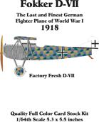Fokker D-VII set 6 Factory Fresh