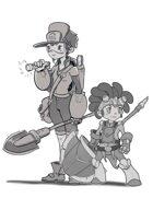 Excavator Boy and Girl - RPG Stock Art Bundle