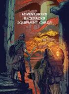 Adventurers Backpacks Equipment Cards