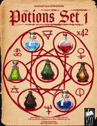 Fantasy Art - Potions Set 1