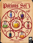 Fantasy Art - Potions Set 3