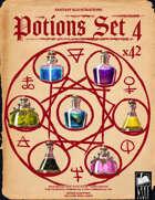 Fantasy Art - Potions Set 4