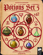 Fantasy Art - Potions Set 5