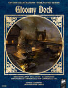 Dark Gothic Art - Gloomy Dock