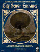Dark Gothic Art - City Sewer Entrance