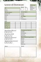 LoC: Renaissance, Fate RPG Character Sheets