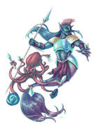THC Stock Art: Merman and Octobuddy - Merpeople and Battle Octopus , from $$16.99 to $$8.99