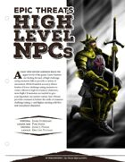 EN5ider #45 - Epic Threats: High Level NPCs
