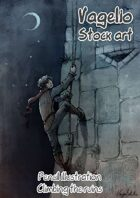 Pencil and Color Works: Climbing the Ruins
