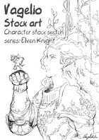 Character stock sketch series: elven knight