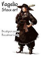 Character stock Brushpen works: Buccaneer