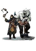 Vagelio Kaliva - Stock character digital sketch - sorcerer and barbarian