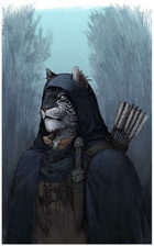 Character stock sketch and color series: Catfolk Rogue