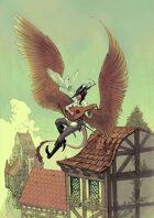 Vagelio Kaliva - Stock character Illustration -  Tiefling bard