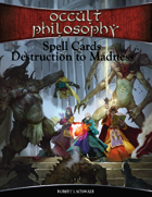 Occult Philosophy Spell Cards Destruction to Madness