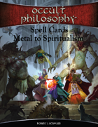 Occult Philosophy Spell Cards Metal to Spiritualism