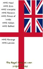 The Royal Navy at war: 1939 1945