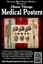 28mm vintage Medical posters