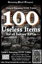 100 Useless items for all Fantasy RPGs