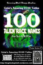 100 Alien Race Names for all Sci-Fi RPGs