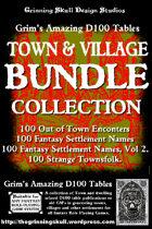 Grim's Amazing D100 Tables Town Bundle Collection [BUNDLE]