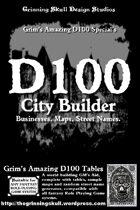 Grim's D100 Special's: D100 City Builder for all fantasy RPGs