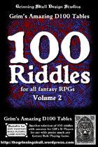 100 Riddles for all fantasy RPGs Volume 2