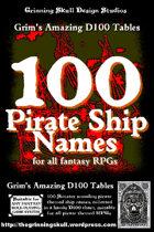100 Pirate Ship Names for all fantasy RPGs