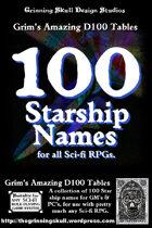 100 Starship Names for all fantasy RPGs