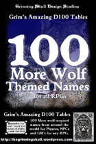100 More Wolf Themed Names for all fantasy RPGs