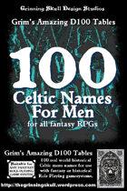 100 Celtic Names for Men for all fantasy RPGs