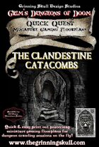 Quick Quests Miniature Gaming Floorplans: The Clandestine Catacombs Poster Map