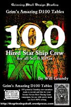 100 Hired Star Ship Crew for all Sci-Fi RPGs