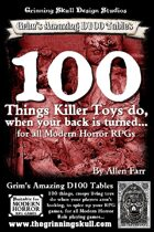 100 Things Killer Toys do, when your back is turned for all Modern Horror RPGs