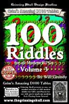 100 Riddles Volume 3, for all Modern RPGs