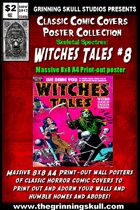 Classic Comic Covers Posters: Skeletal Spectres 8x8: Witches Tales #8