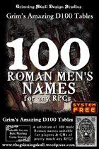 100 Roman Men's Names for any RPGs